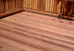 redwood rough deck