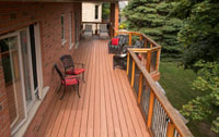 nylodeck porch with chairs