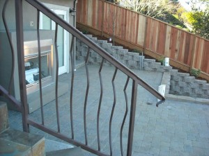 wrought iron stair railings - 2