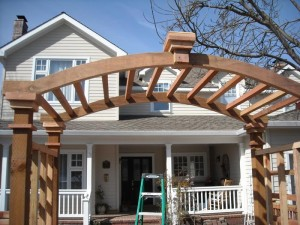 entry arbor - redwood