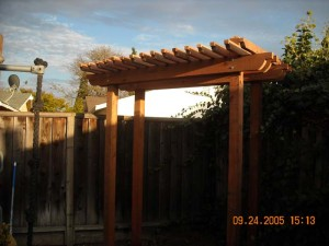redwood shade arbor 2