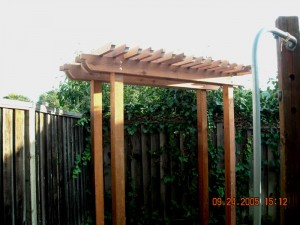 redwood shade arbor