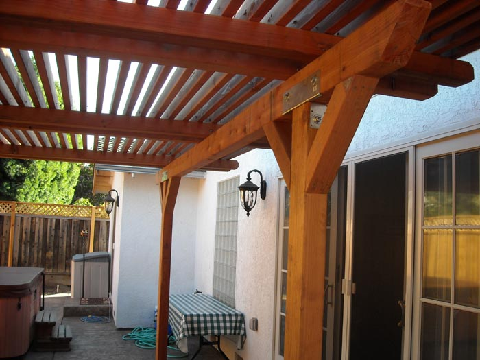 Coastal lumber custom patio covers image gallery for Redwood patio cover