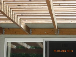 Redwood attached patio cover -2