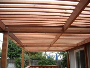 con heart redwood patio cover