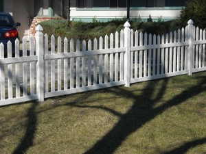 3 ft white scallop picket fence vinyl -5